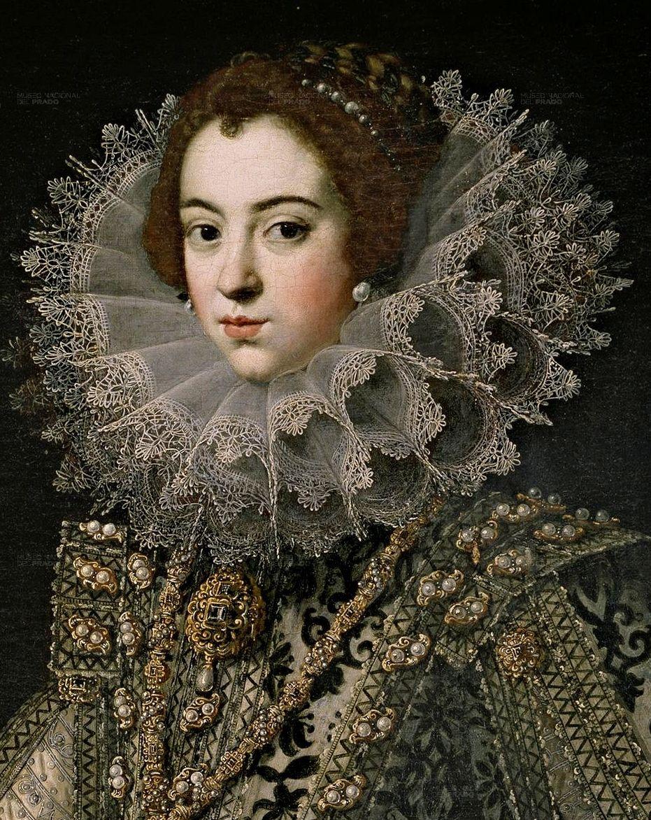 Isabel de Borbon, Queen pf Spain and Portugal, by Paulus Moreelse (Dutch, 1571–1638).
