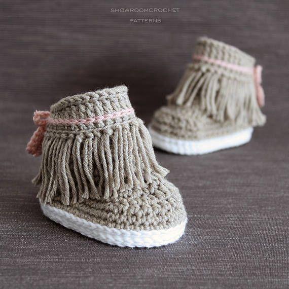 Patron de crochet Botines Dakota para bebe | Tejido | Pinterest ...