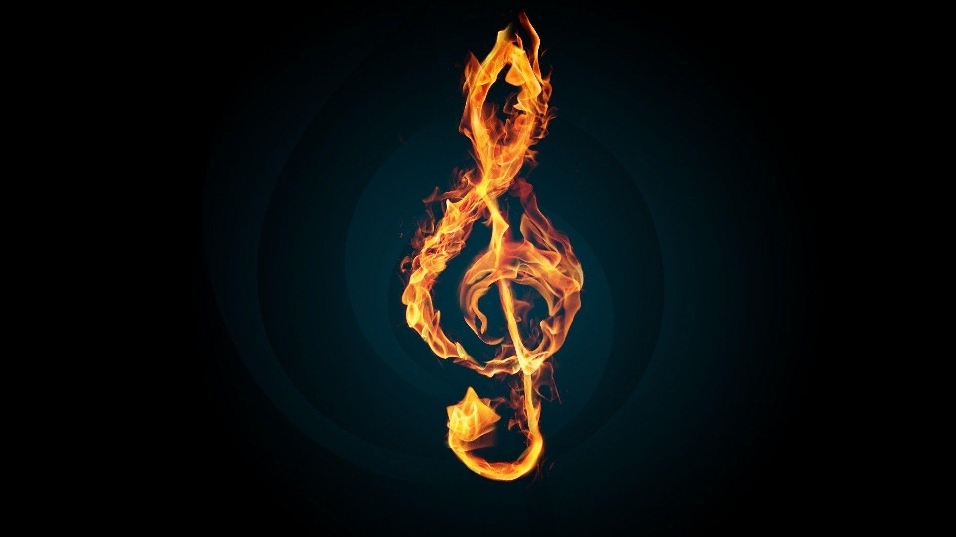 3d Music 3d Burning Music Notes Hd Musik Wallpaper Hintergrundbilder Iphone Handy Iphone