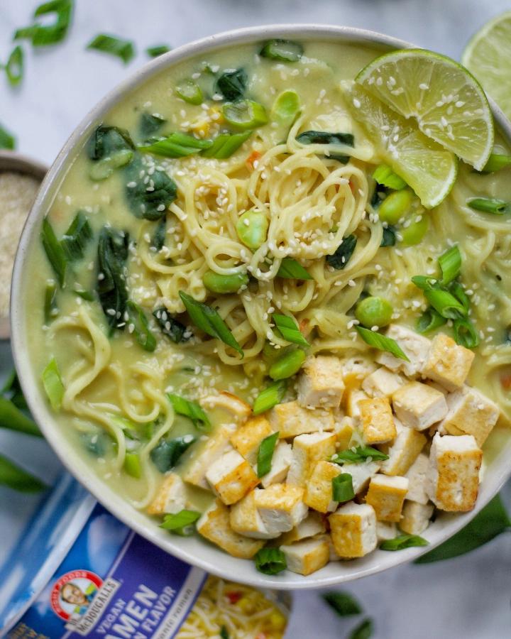 Healthy Thai Green Curry Ramen