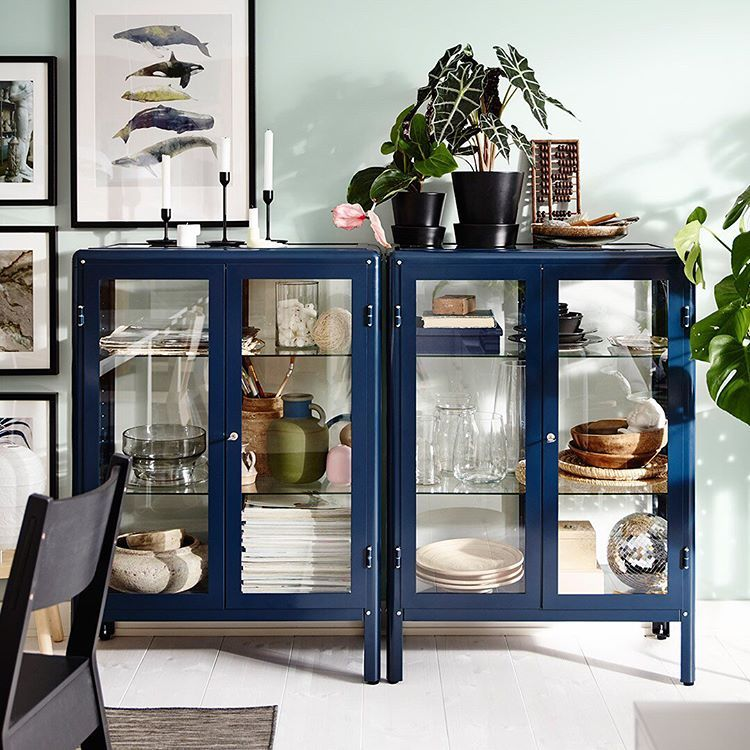 Ikea Canada En Instagram From Our Ideas Blog How To Furnish With Open And Closed Storage Don T Feel Overwhelmed By In 2020 Glass Cabinet Doors Trending Decor Decor