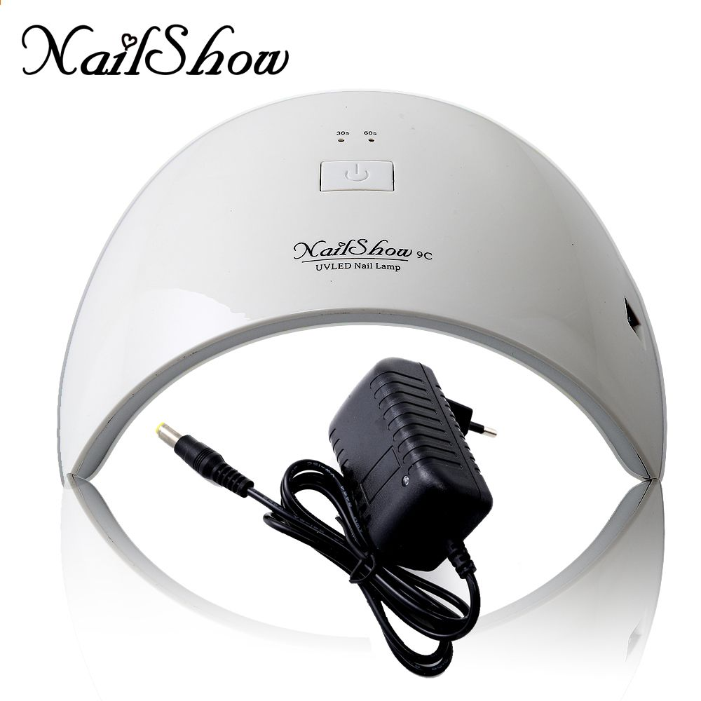 nailshow sun9c 24w led uv nail dryer lampada polimerizzante per gel