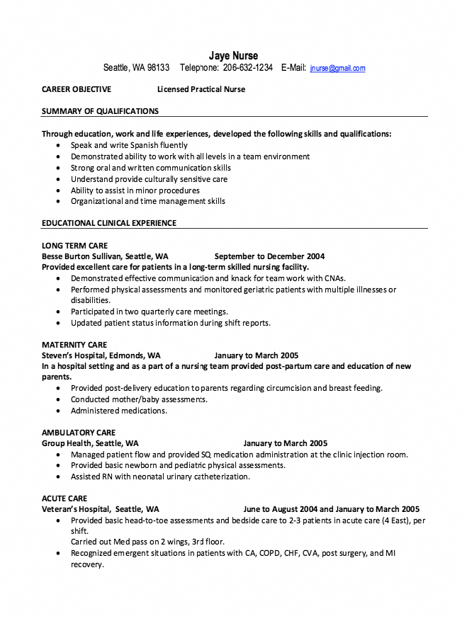 Nursing School Lpnvsrn Lpn Resume Nursing Resume Examples Nursing Resume