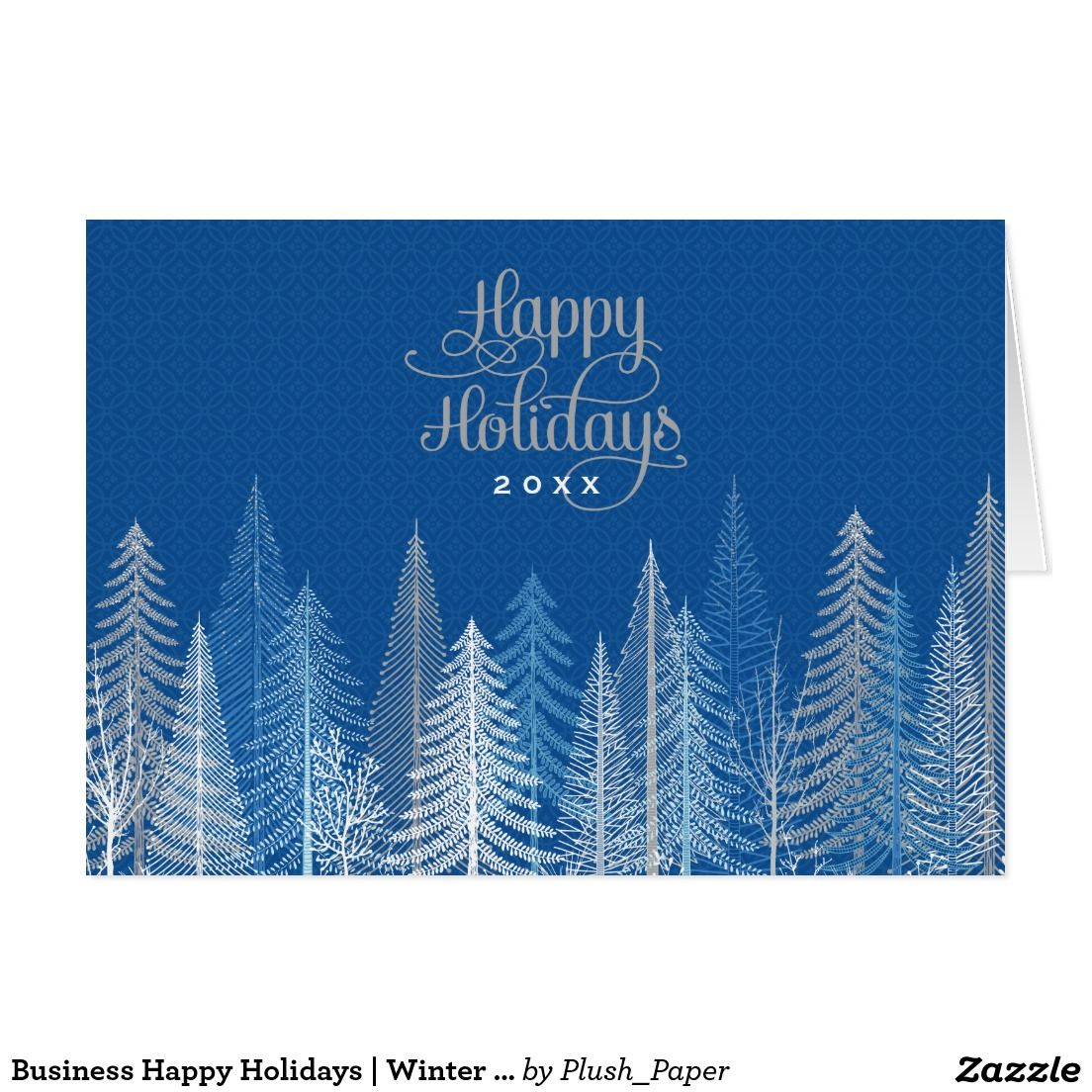 Business Happy Holidays | Winter Scene Holiday Card | Pinterest