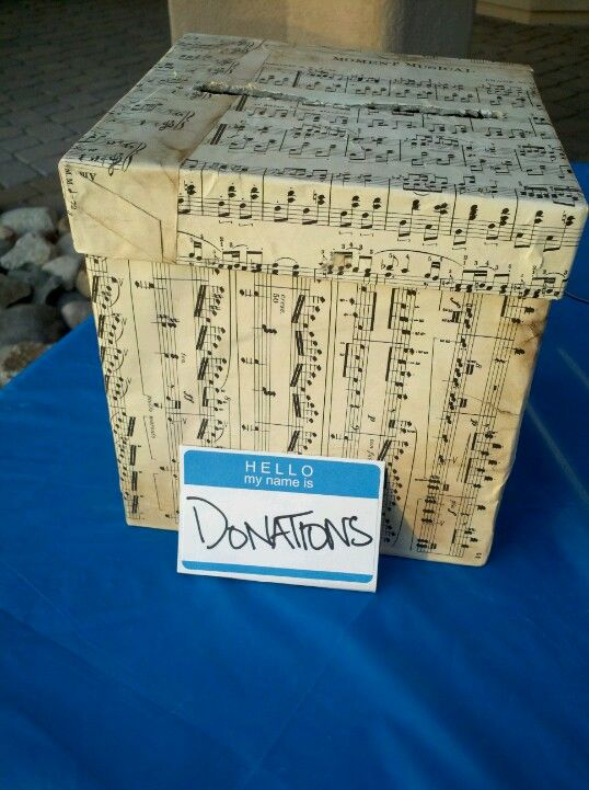 october 6th fundraiser sheet music donation box my crafts pinterest box memory crafts. Black Bedroom Furniture Sets. Home Design Ideas