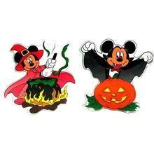 Disney Mickey and Minnie Halloween Window Jelz Set of 2 Q484-0197-92209057B
