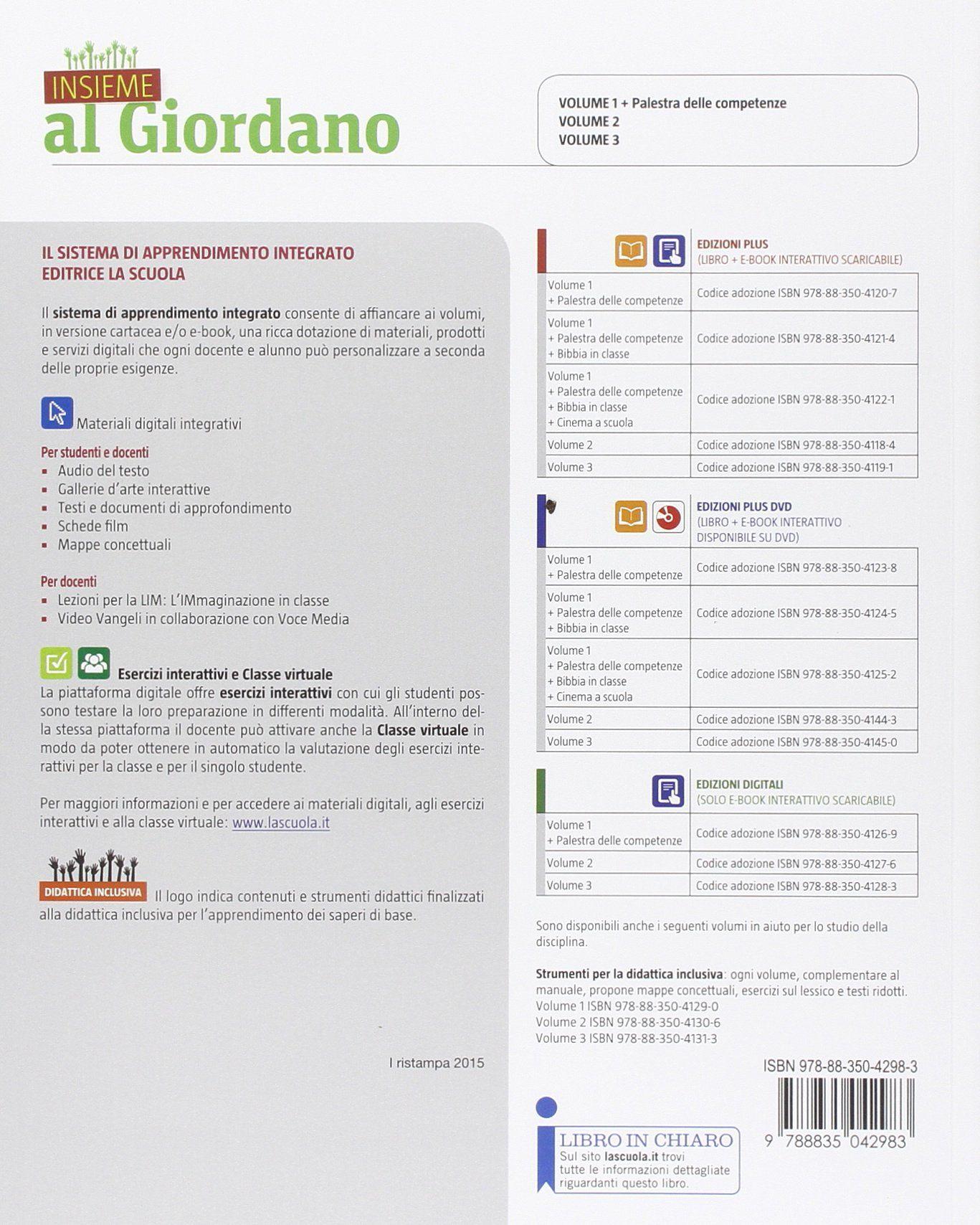 Insieme al Giordano 1 - Scuolabook