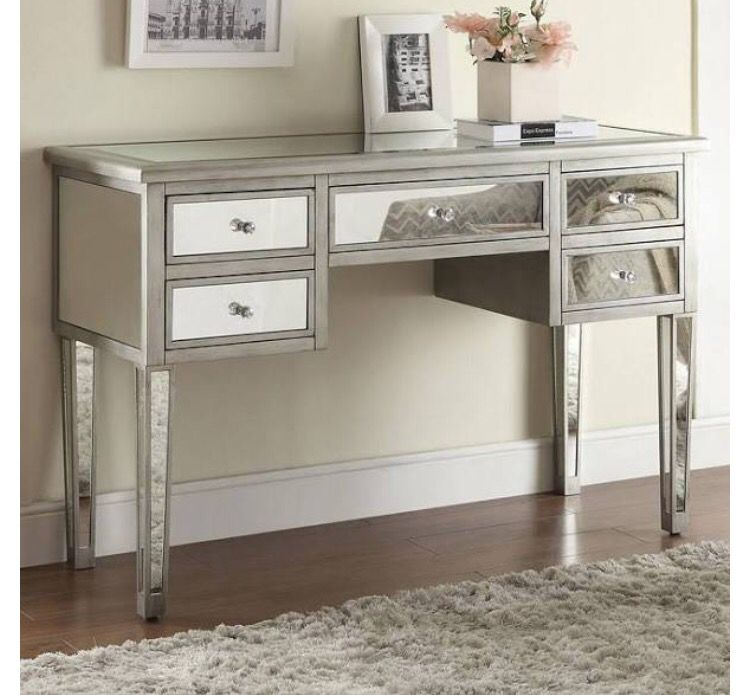 Mirrored Desk Mirrored Console Table Mirrored Vanity Table
