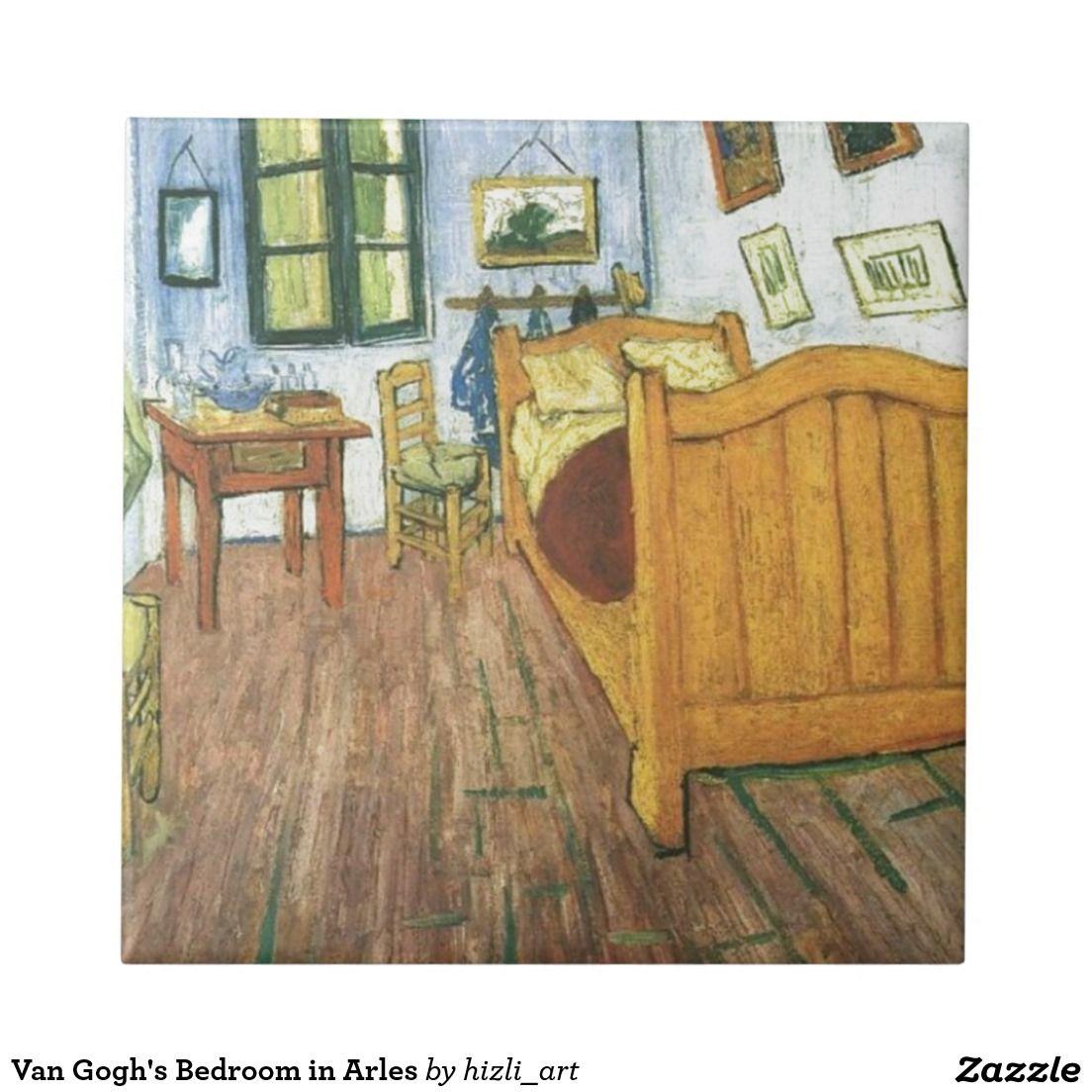 Van Gogh's Bedroom in Arles Tile in 2020