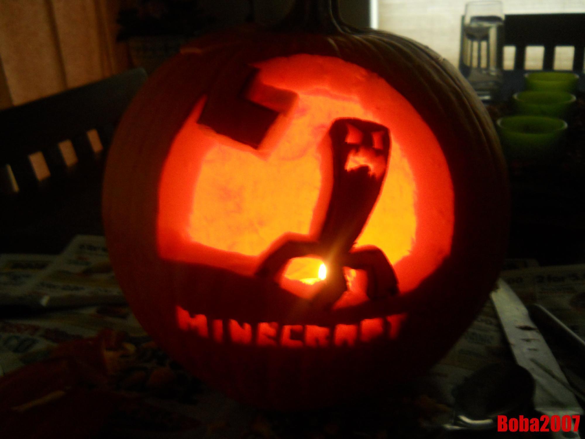 Minecraft Pumpkin Stencil Art Carvings Crafts Ideas