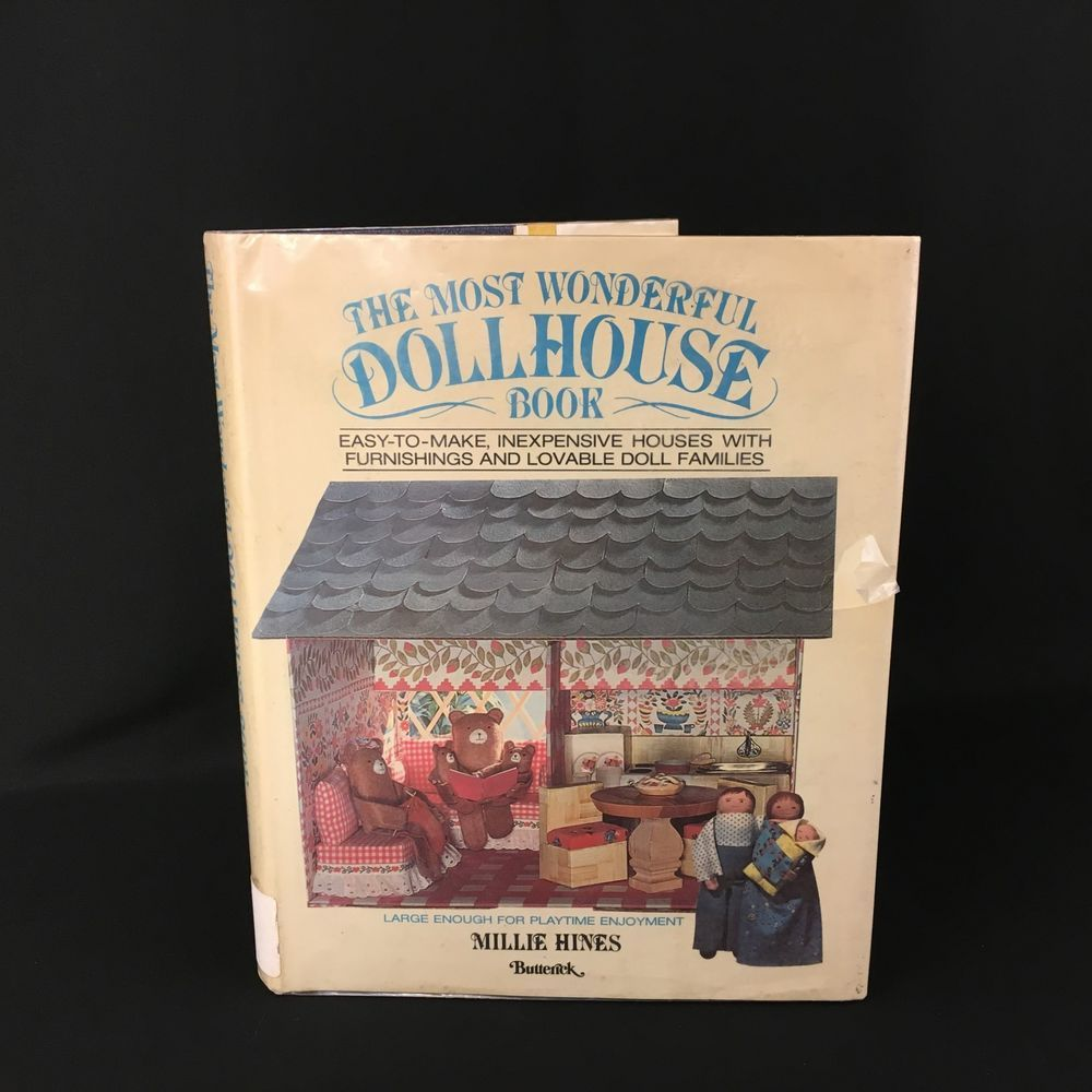 The Most Wonderful Dollhouse Book by Millie Hines 1979 USA #Doesnotapply