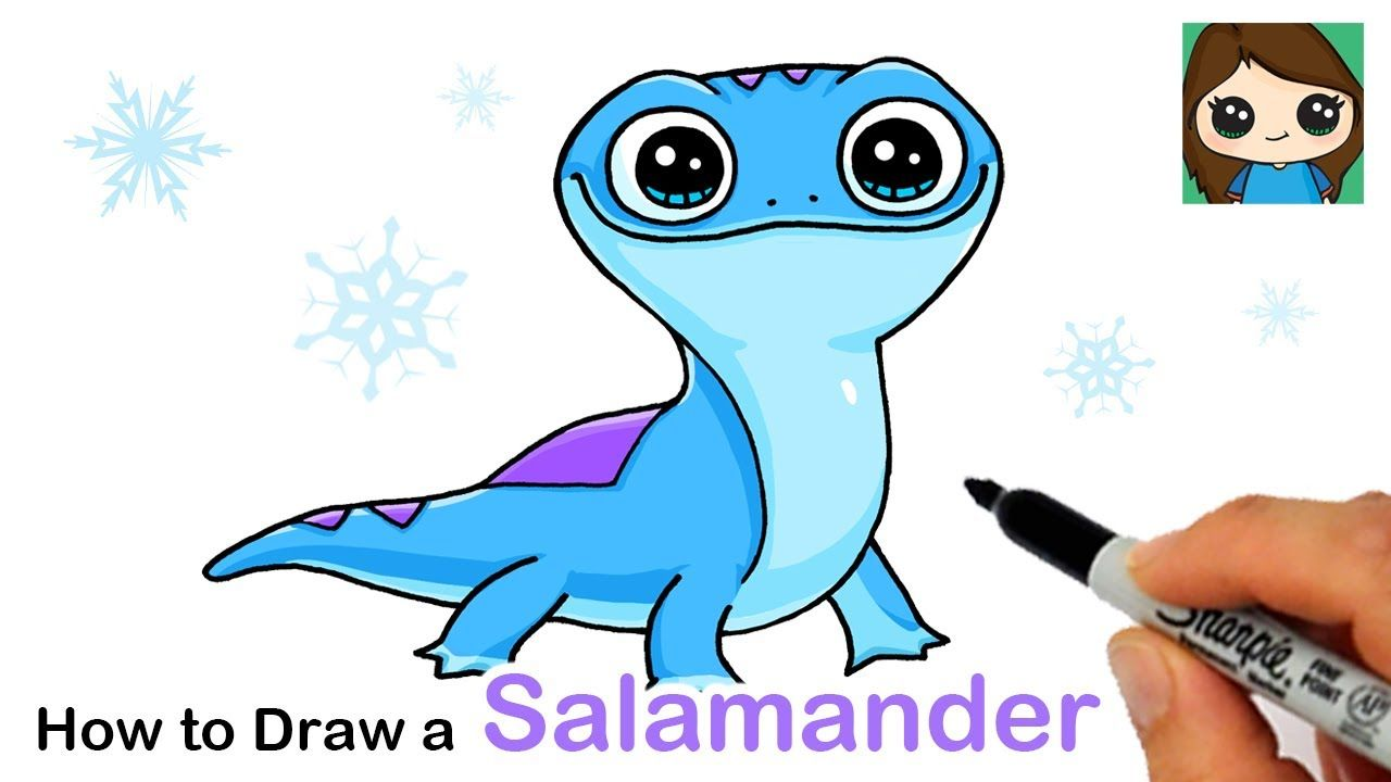 How To Draw Bruni The Fire Salamander Disney Frozen 2 Youtube In 2020 Cute Drawings Cute Easy Drawings Frozen Drawings