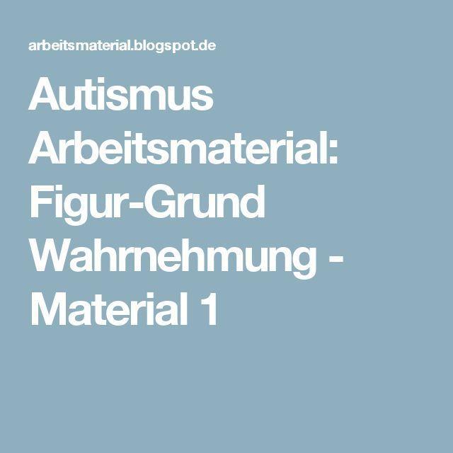 Autismus Arbeitsmaterial: Figur-Grund Wahrnehmung - Material 1