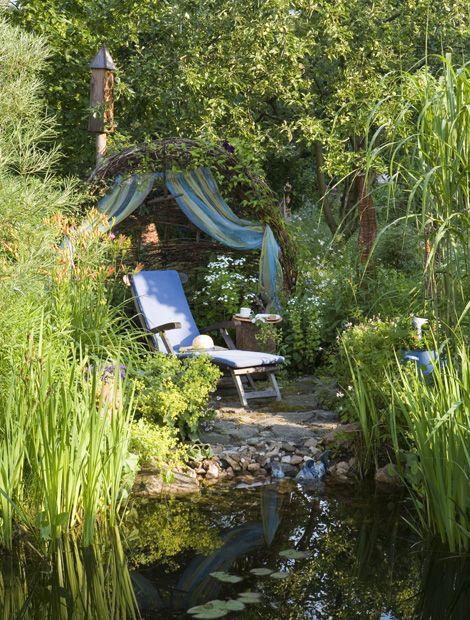 Hier Lässt Sich's Aushalten. Da Wird Der Nachmittag Im Garten Fast ... Ideen Fur Die Gartengestaltung Frohlich