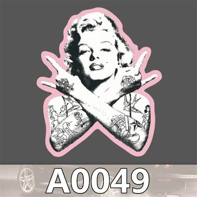 Marilyn Monroe Paint Bombed Wall Art Luggage Sticker Car Skateboard Guitar Decal