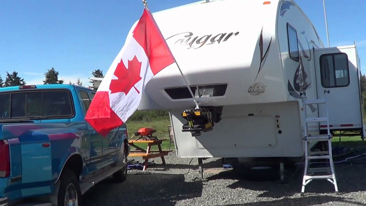 RV Flag Mounting Idea for Your Fifth Wheel Trailer   Videos