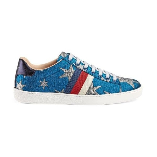 463a6c020a8 Women s Gucci Star New Ace Sneaker ( 560) ❤ liked on Polyvore featuring  shoes