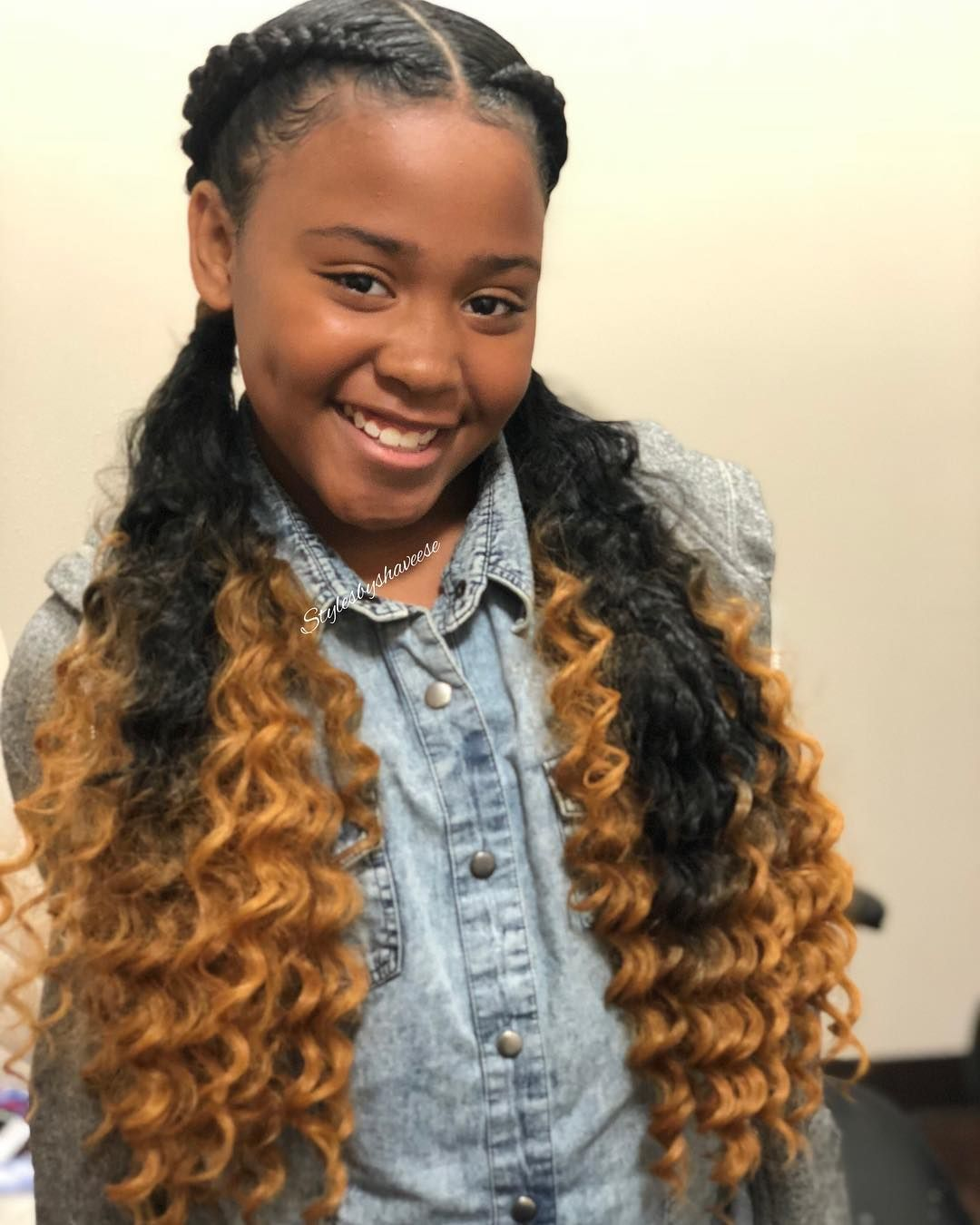 Shaveese Rodriguez on Instagram \u201c2 Braids with curly ends