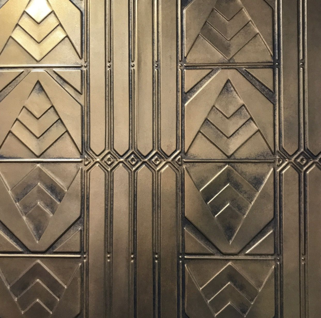 Brass Look Pressed Metal Panel In Art Deco Design The Oaks Sydney Pressed Metal Supply Install And Pressed Metal Ceiling Pressed Metal Pressed Metal Panels