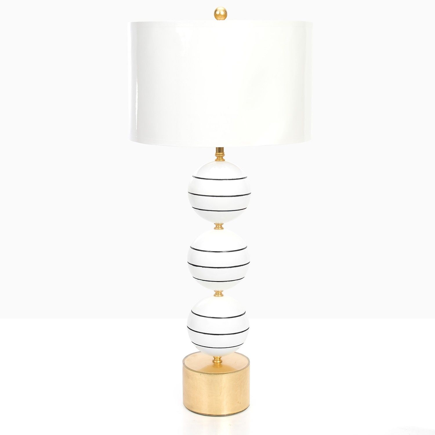 Couture Lamps Corona Del Mar Table Lamp The Adds Beauty And Cl To Any E Three High Gloss Lacquer Orbs With