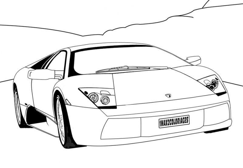 Printable coloring sheets of Lamborghini supercar for kids ...