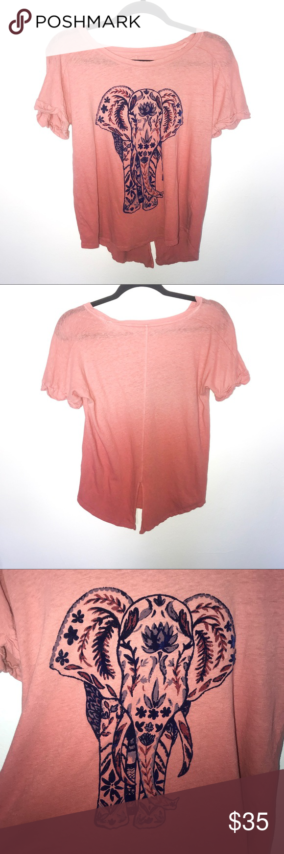 Lucky brand ombré embroidered elephant tee in my posh picks