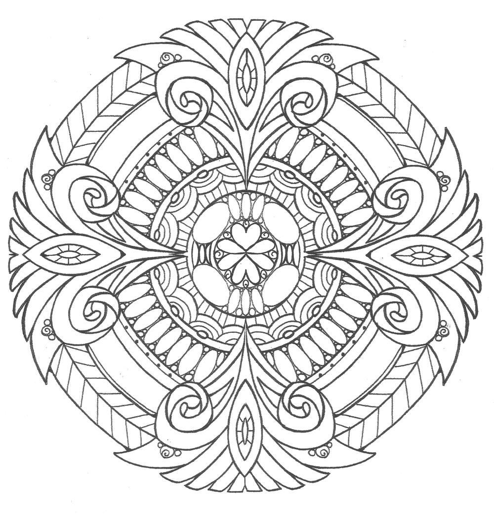 Pure Royalty Adult Coloring Page Mandala coloring pages