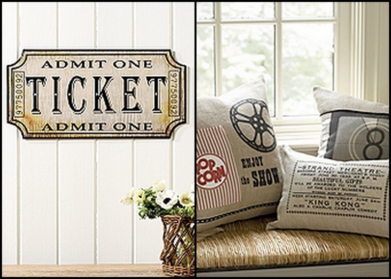 Concession Stand Pillow Idea Movie Room Decor