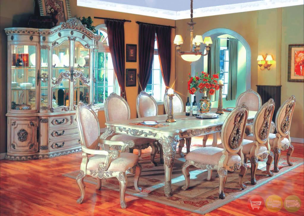 WhiteHall Traditional Formal 11 Pc Dining Room Set Table Chairs China Cabinet
