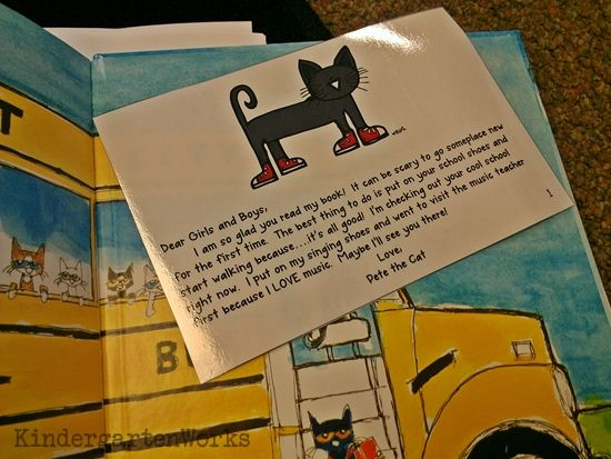 Cute idea for introducing students to their new, big school on the first day. Pete the Cat