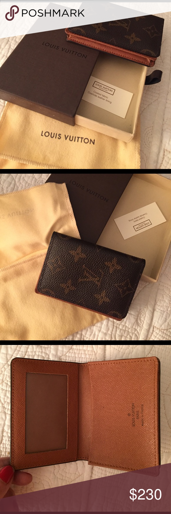 Louis Vuitton Business Card Holder Monogram Canvas Number inside ...