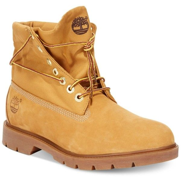 Timberland Icon Basic Roll Top Boots ($125) ❤ liked on Polyvore featuring  mens,