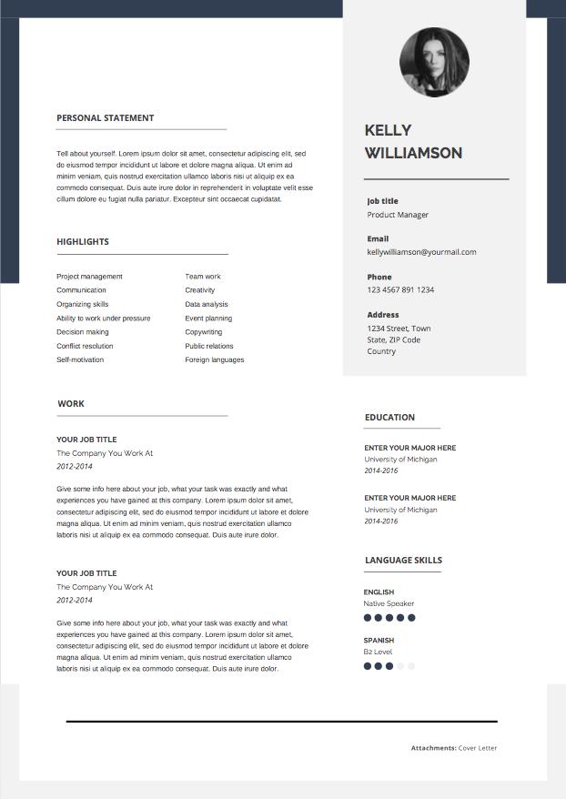 Epingle Sur Resume Templates To Use