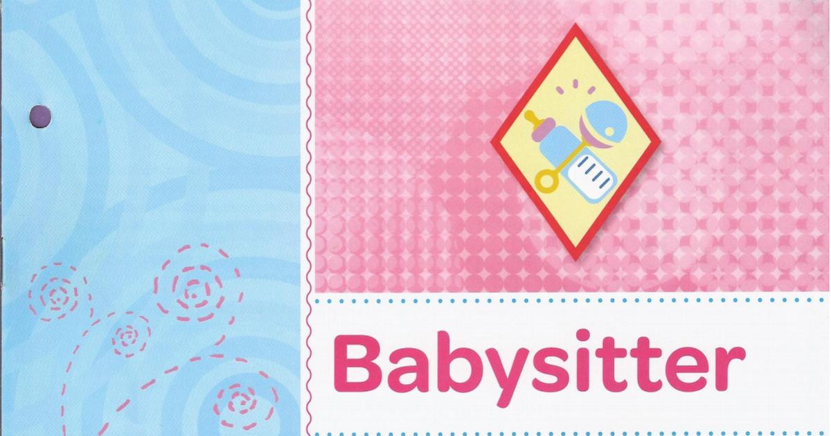 Babysitter Pdf Cadette Girl Scout Badges Girl Scouts Cadettes Girl Scout Badges