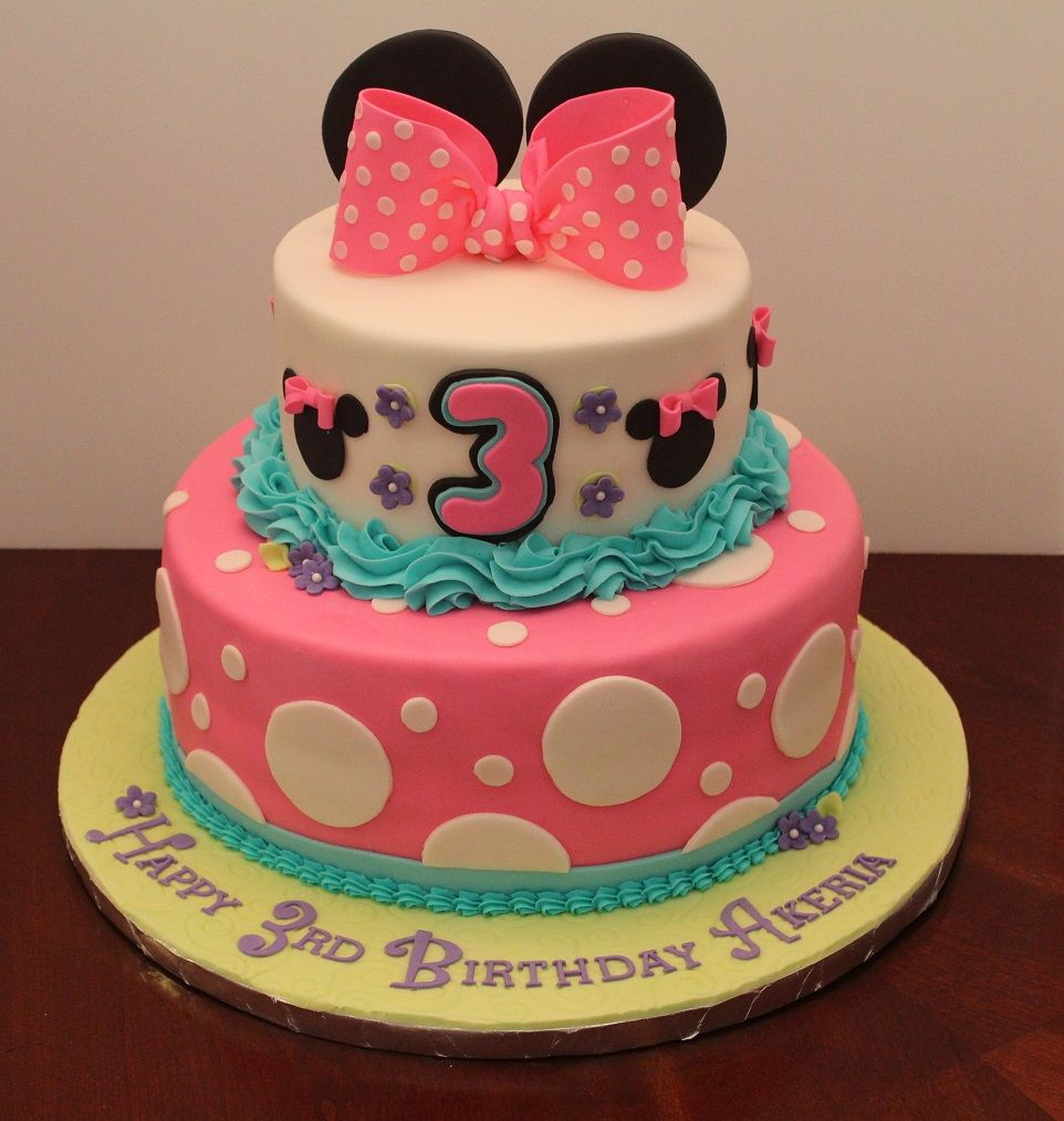 Birthday cake for 3 year old Akeria Birthday Cakes for Girls