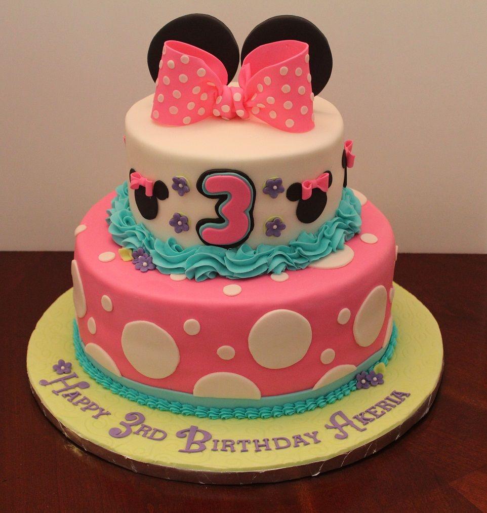 Birthday cake for 3 year old Akeria Birthday Cakes for Girls