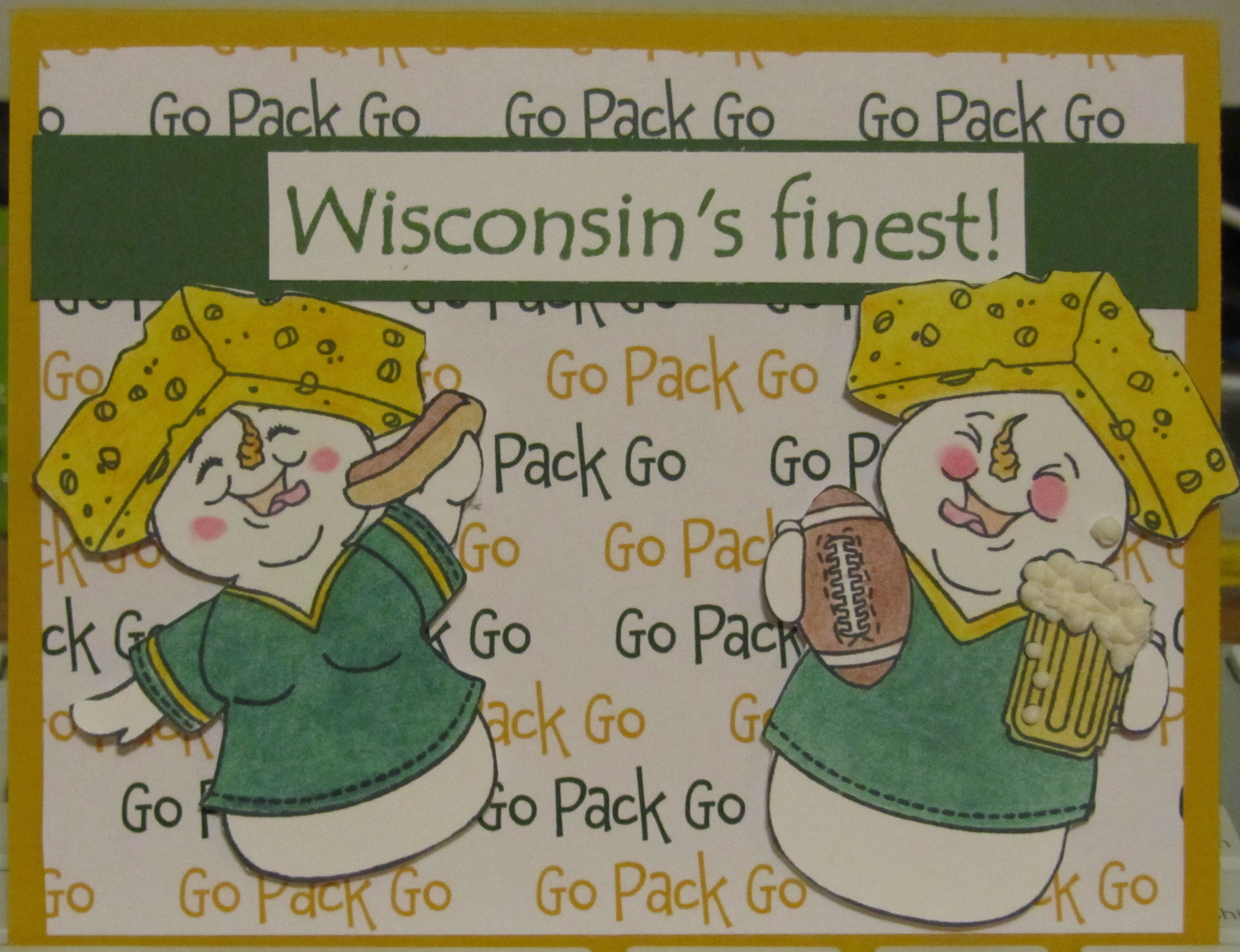 Green Bay Packer Birthday Card I Wonder Where They Sell