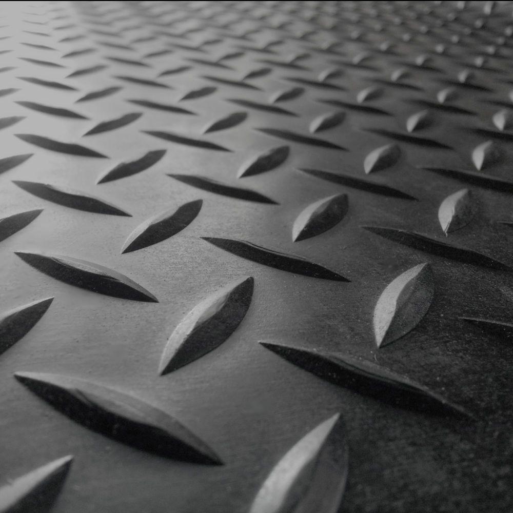 Rubber Floor Mats Black Workout Garage Runners Industrial Dimond Plate 48 X 96 Rubber Flooring Rubber Floor Mats Diamond Plate