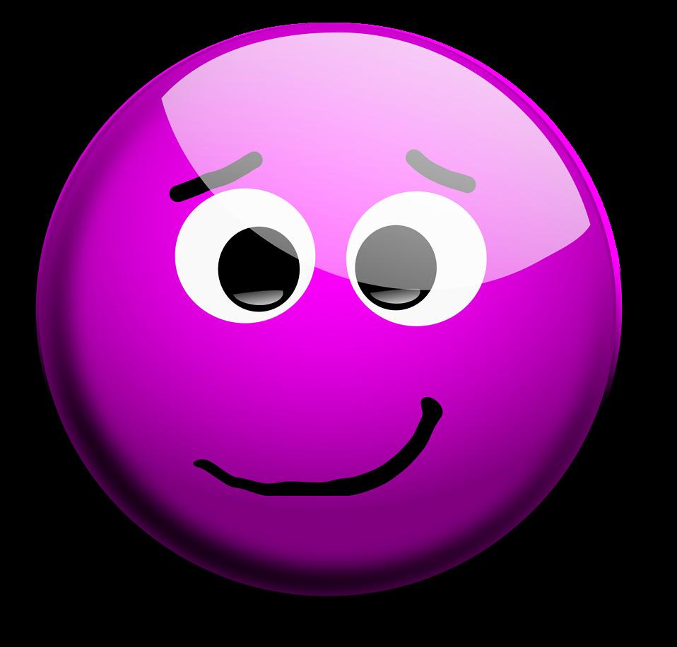 Purple SmileyFace Thumbs Up Illustration of a purple
