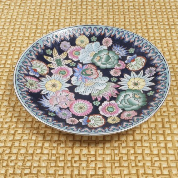 Chinoiserie Porcelain Plate ~ Under Strict Supervision by H.F.P. Macau, Made in China