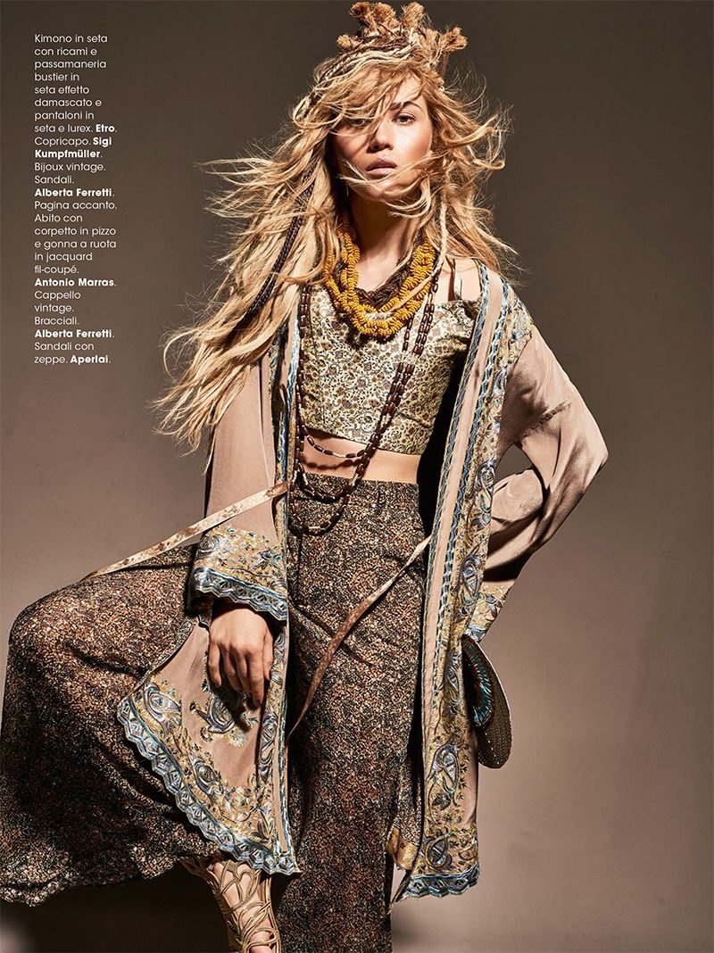 new product 9ebef 3cc88 Josefin Bresan Models Tribal Chic Looks for Glamour Italy ...