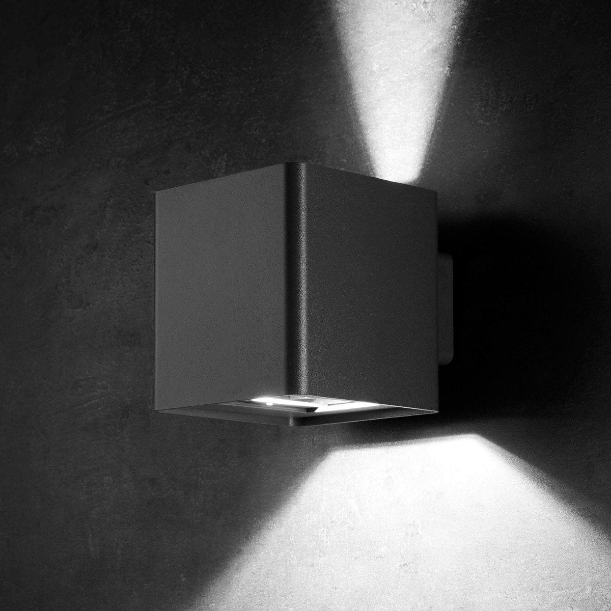 LED Lampen Anthrazit mit Bewegungssensor für Hauswand Außenbeleuchtung Wand