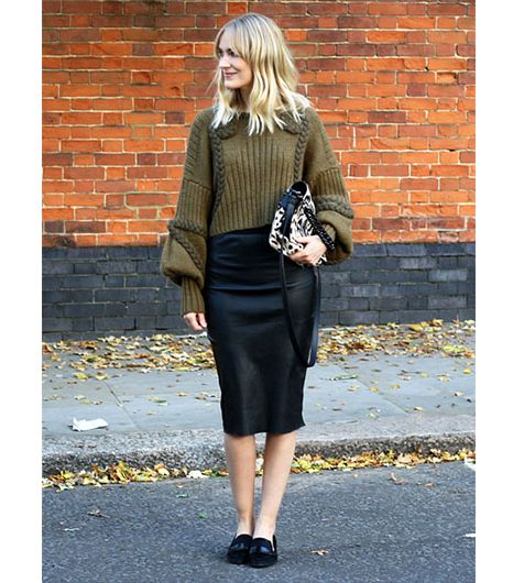 Marie Hindkaer Wolthers of Blame It On Fashion On Marie: Whyred coat; Carin Wester sweater; By Malene Birger skirt; Elena Ghisellini bag; Zara shoes.