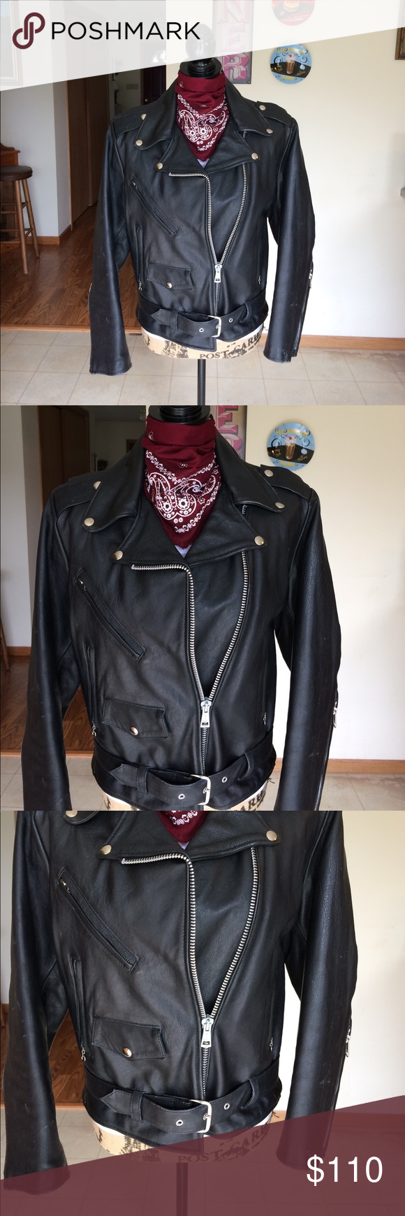 Vintage Excelled Leather Biker Jacket Here Is A Very Vintage Leather Biker Jacket Dates To The Sixties Ladies Siz Clothes Design Leather Biker Jacket Jackets [ 1740 x 580 Pixel ]
