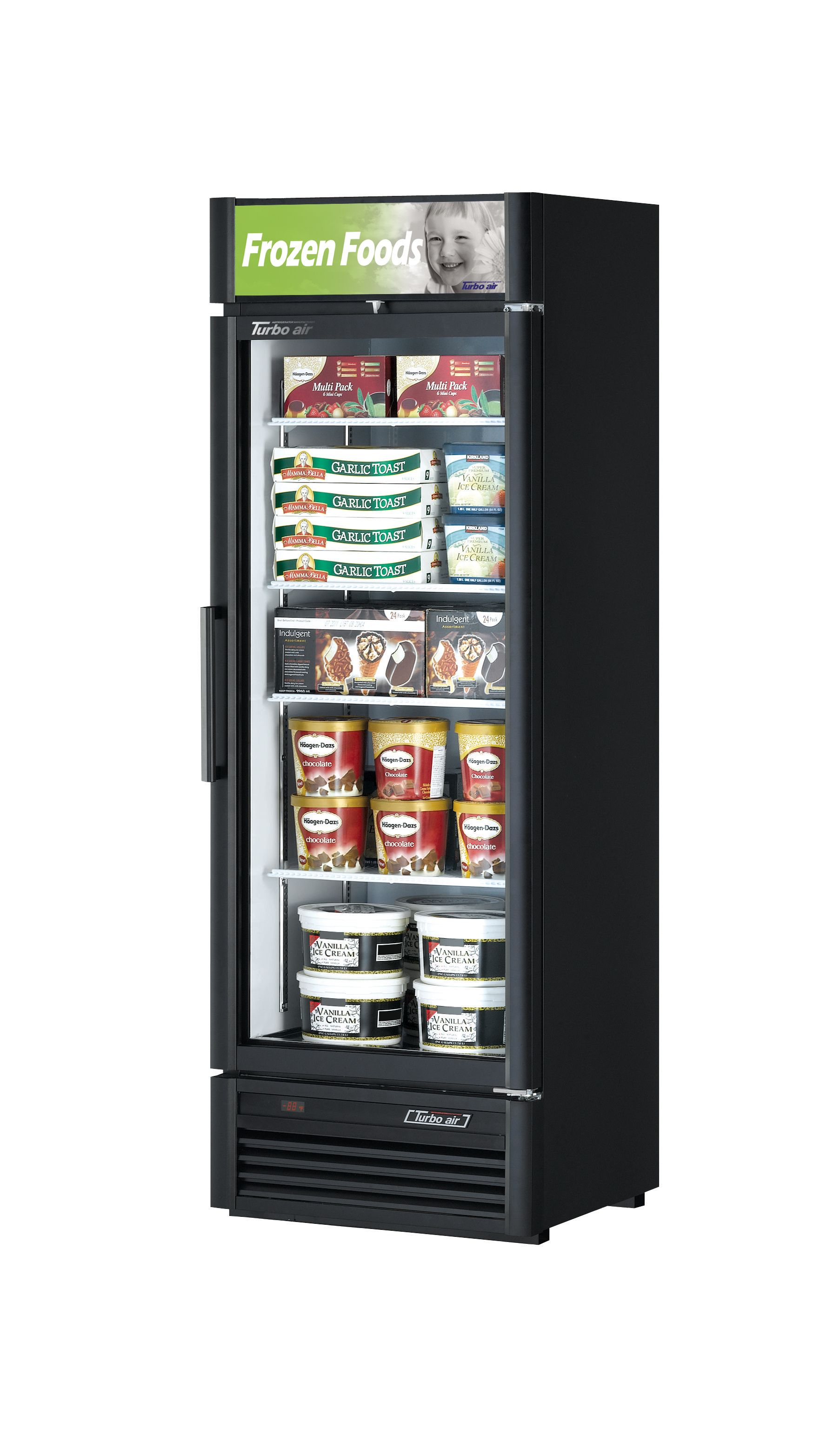 Freezer 15 9 Cu Ft 1 Swing Door Congelador 15 9 Pies Cubicos 1 Puerta Batiente Serie Super Deluxe Glass Door Glass Door Refrigerator Single Doors