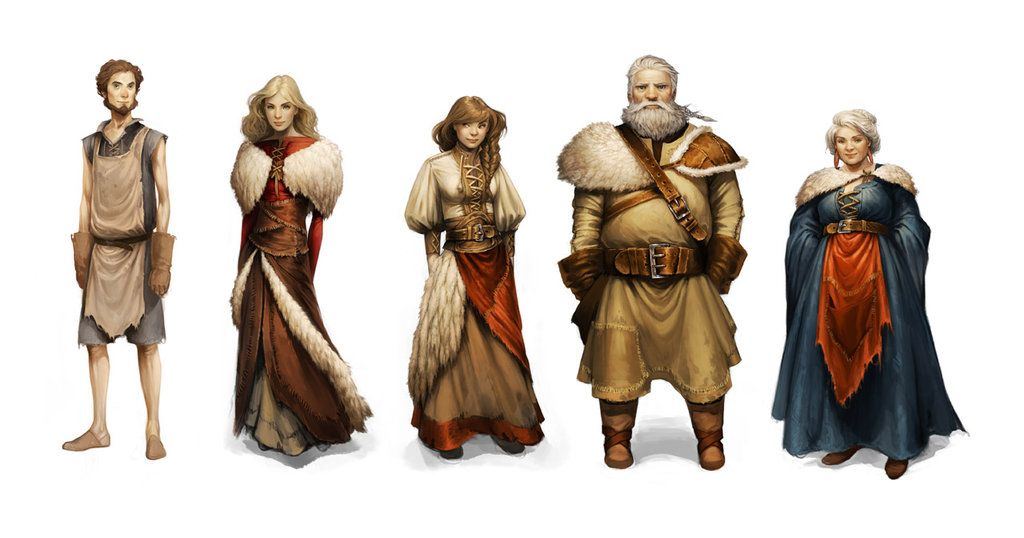 Realm Villagers by Charlie-Bowater on deviantART ★ Find more at http://www.pinterest.com/competing/