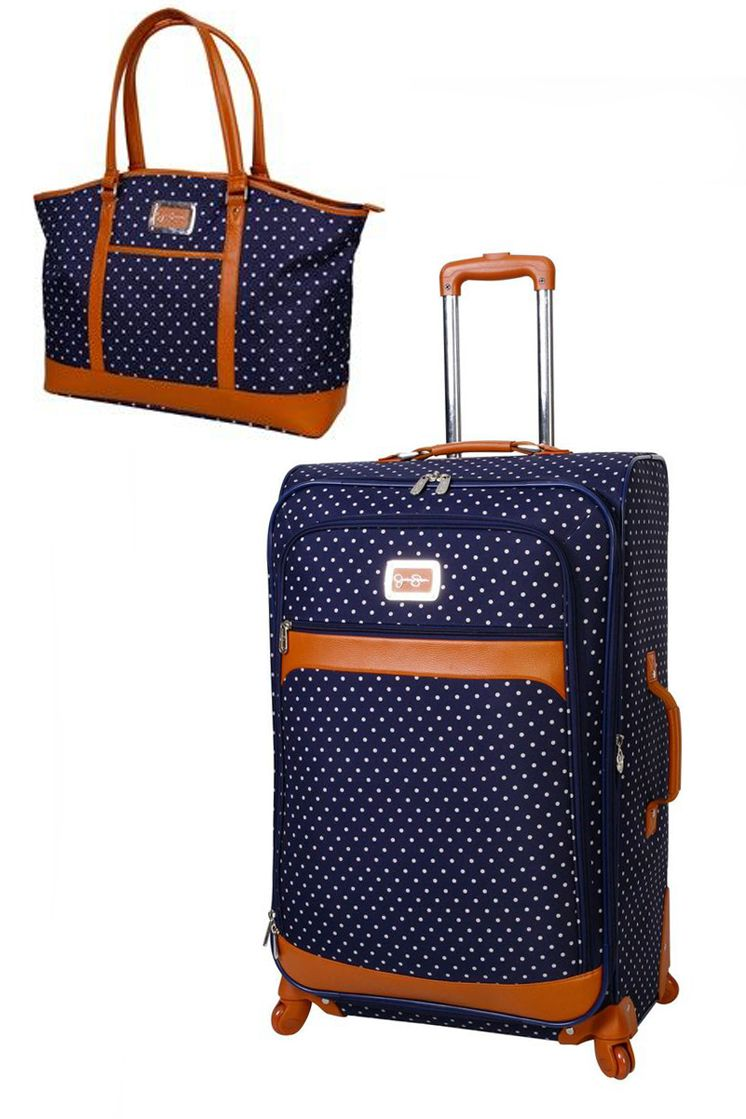 00b9efcd6 STYLEeGRACE ❤'s this Jessica Simpson Navy Socialite Luggage set! Luggage  Backpack, Carry