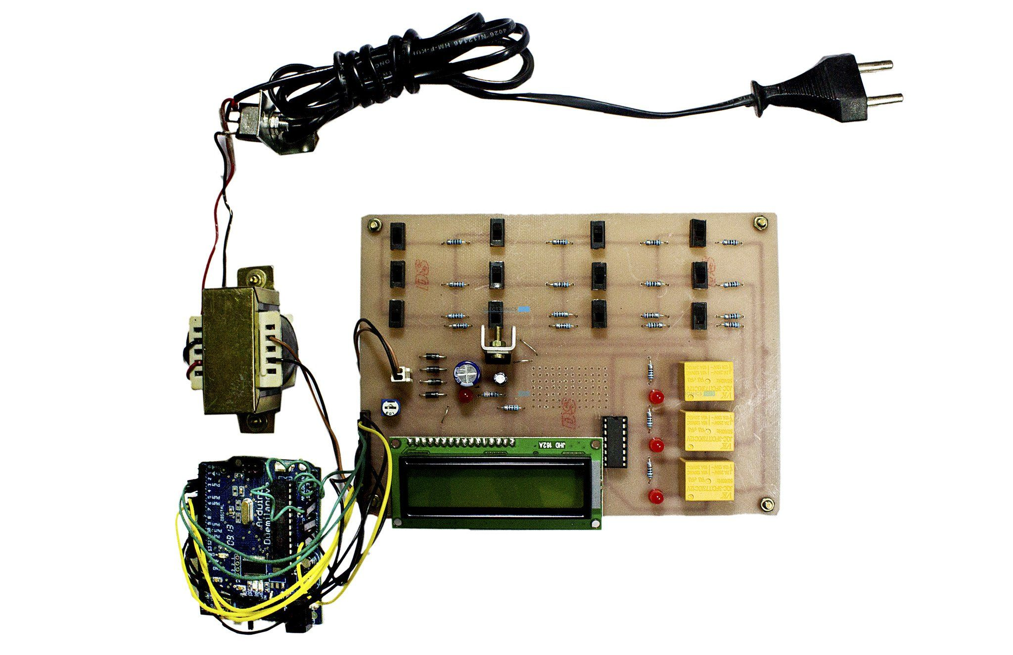 hight resolution of arduino based underground cable fault detection