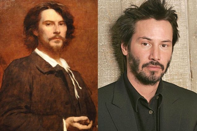 Celebrities Who Look Like Historical Figures 15 Photos Paul Mounet Keanu Reeves Keanu Reeves Celebrity Look Alike Doppelganger