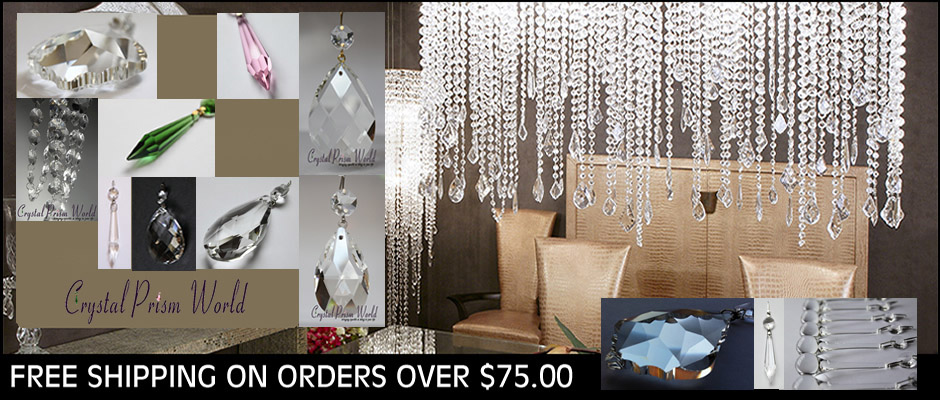 Crystal Prisms, Crystal Chandelier Prisms, Lamp Crystals, Chandelier Crystals - Crystal Prism World